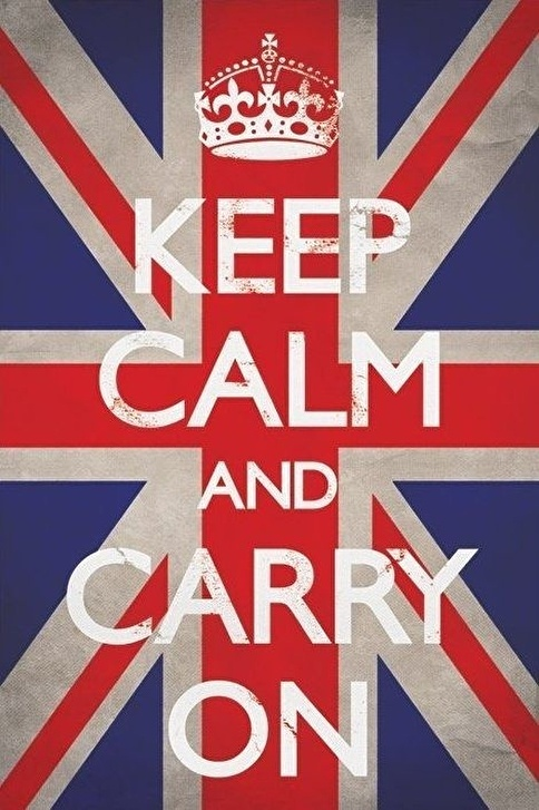 Pyramid International Maxi Poster Keep Calm And Carry On Union Jack Renkli